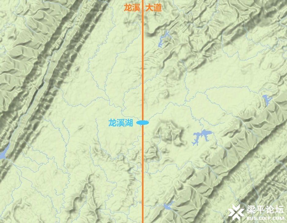梁平区龙溪大道、龙溪湖及梁平西站位置示意图 5