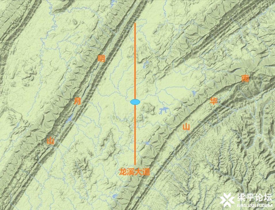 梁平区龙溪大道、龙溪湖及梁平西站位置示意图 3
