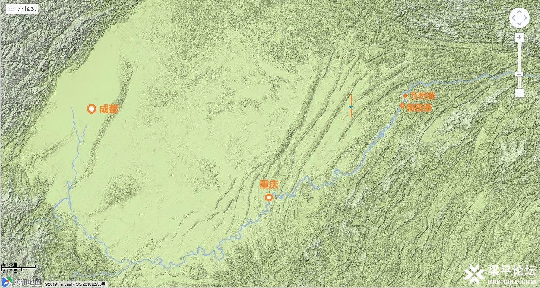 梁平区城市中轴线在四川盆地的地理位置 1.jpg