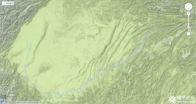 梁平区城市中轴线在四川盆地的地理位置 2.jpg